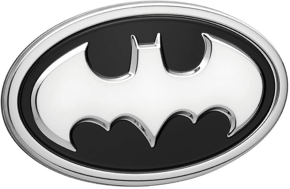 Fan Emblems Batman 3D Car Badge - 1989 Logo (Black and Chrome)