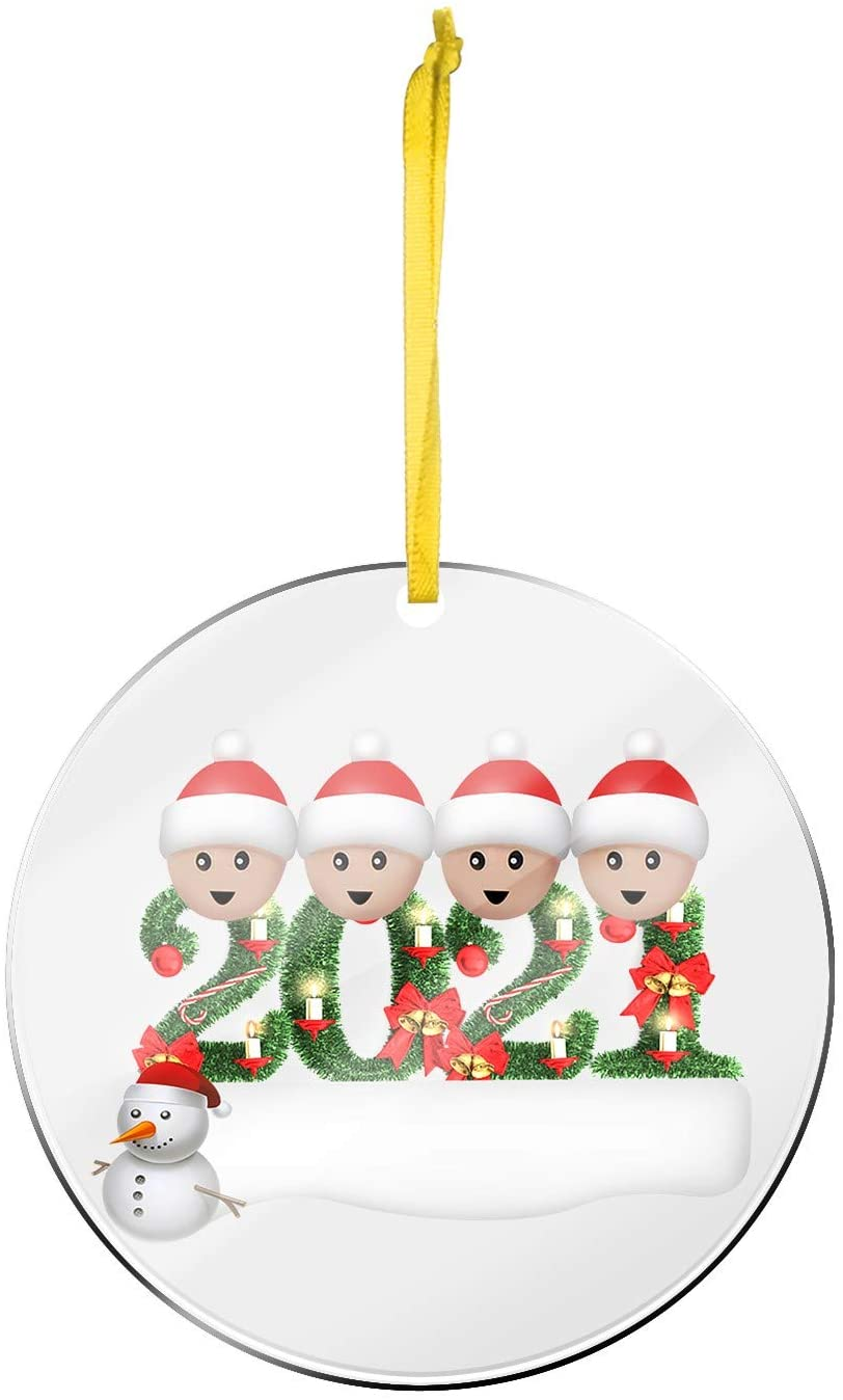 2021 Acrylic Personalized Surviving Home Decorations Christmas Snowman Christmas Tree Hanging Pendant Acrylic Material