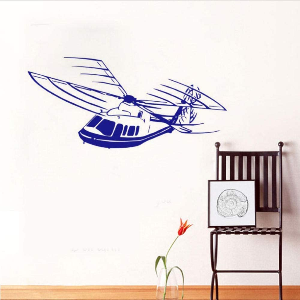 Vinyl Wall Decal Airplane Removable Self Adhesive Helicopter Wall Stickers Home Decor Kids Bedroom 30X65Cm