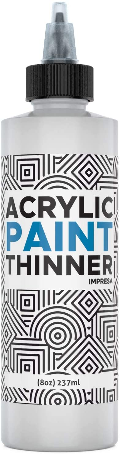 8oz Acrylic Paint Thinner for Slow Drying Acrylic Paints, Acrylic Paint & Slow Drying Mediums Paint Mixes, Thins Paints Without Losing Slow Drying Qualities Made in USA