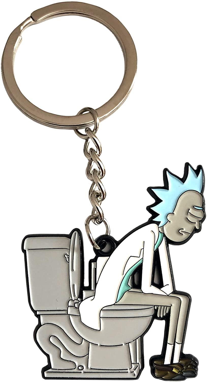 Rick On The Throne - Official Season Four Keychain
