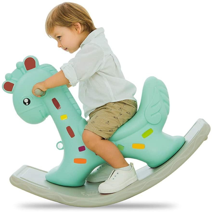 ENHENG Rocking Horses Kids Rocking Chair Trojan for 2-4 Years Old Children Nursery Toddler Playroom Baby Rocker Outdoor Indoor Kids Ride on Toys (Green)