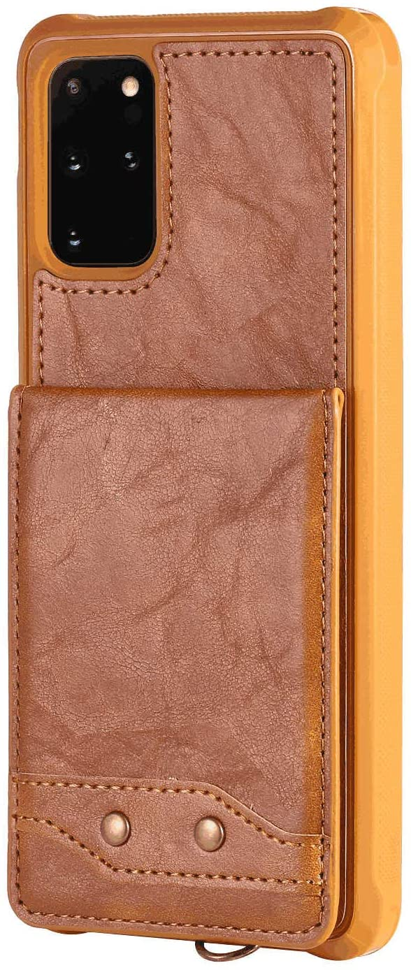 PU Leather Flip Cover Compatible with iPhone Xs Max, Elegant brown Wallet Case for iPhone Xs Max