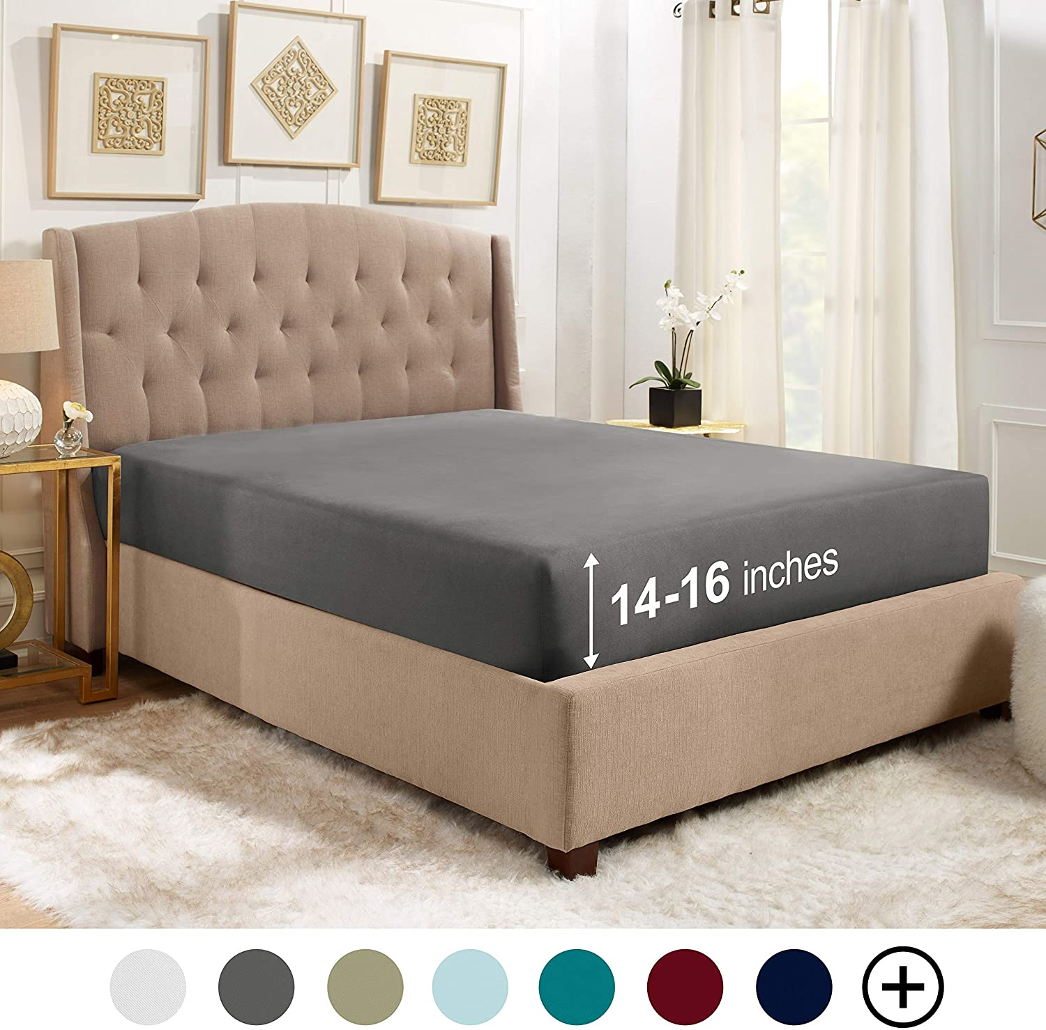 Bed Sheets Twin XL Fitted Sheet - 14