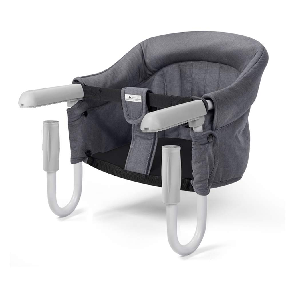 Foho Hook On Chair, Clip on Table High Load Design Fold Flat Storage Attachable High Chair with Storage Bag, Safe Fast Table Chair for Babies and Toddlers (Grey)