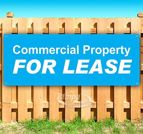 Commercial Property for Lease 13 oz Heavy Duty Vinyl Banner Sign with Metal Grommets, New, Store, Advertising, Flag, (Many Sizes Available)