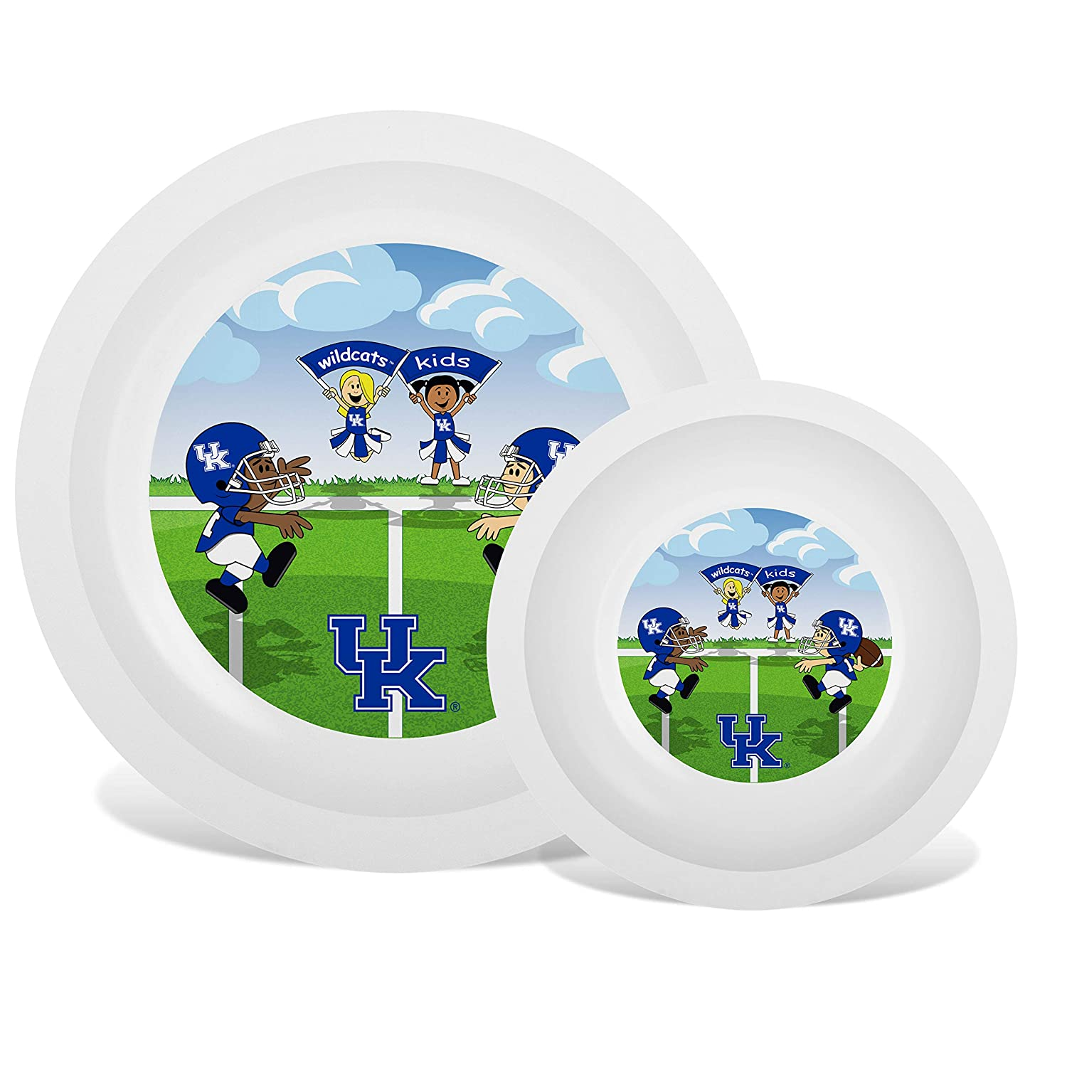 Baby Fanatic NCAA Legacy Infant Plate & Bowl Set, Kentucky Wildcats, for Ages 6 Months & Up