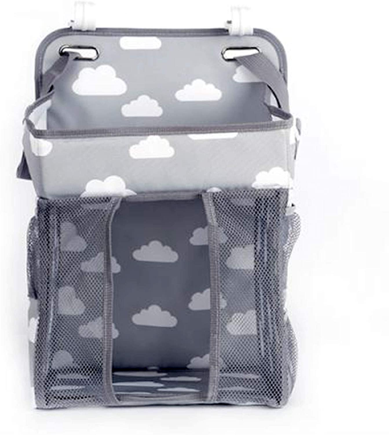 Hanging Diaper Caddy Organizerwith Bibs Changing Table Diaper Stackerfor Crib Storage, Playard and Nursery Organisation