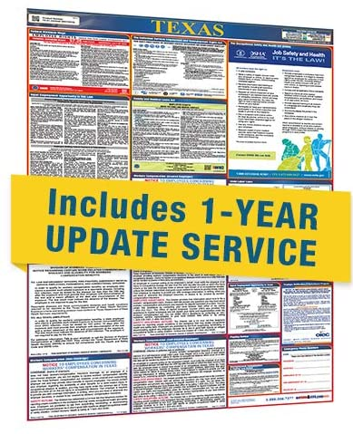 Texas All in One Labor Law Posters with 1 Yr E Update Service