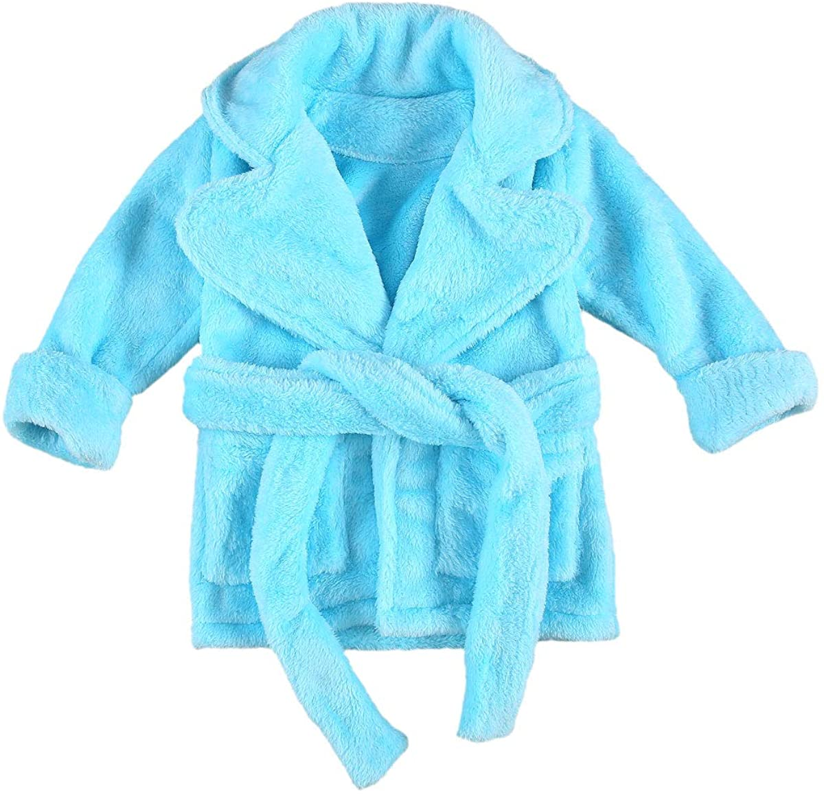 Infant Toddler Baby Girl Flannel Soft Bathrobes Kimono Robe Pajamas Sleepwear Nightgowns with Belt