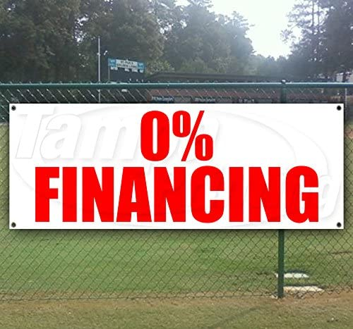 0% Financing 13 oz Heavy Duty Vinyl Banner with Grommets