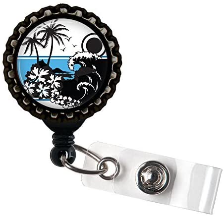 Island Bound Resin Retractable Badge Reel ID Holder