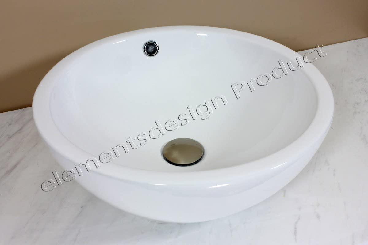 Bathroom White Ceramic Porcelain Vessel Vanity Sink + *Free Pop up Drain* K96