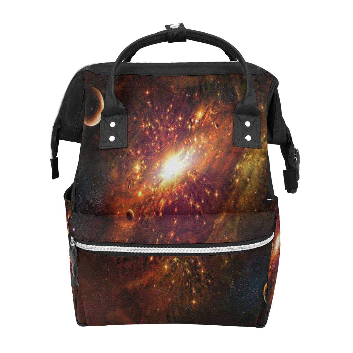 Diaper Bag Backpack Composing Space Star Moon Multifunction Travel Back Pack Baby Changing Bags Large Capacity Waterproof Stylish