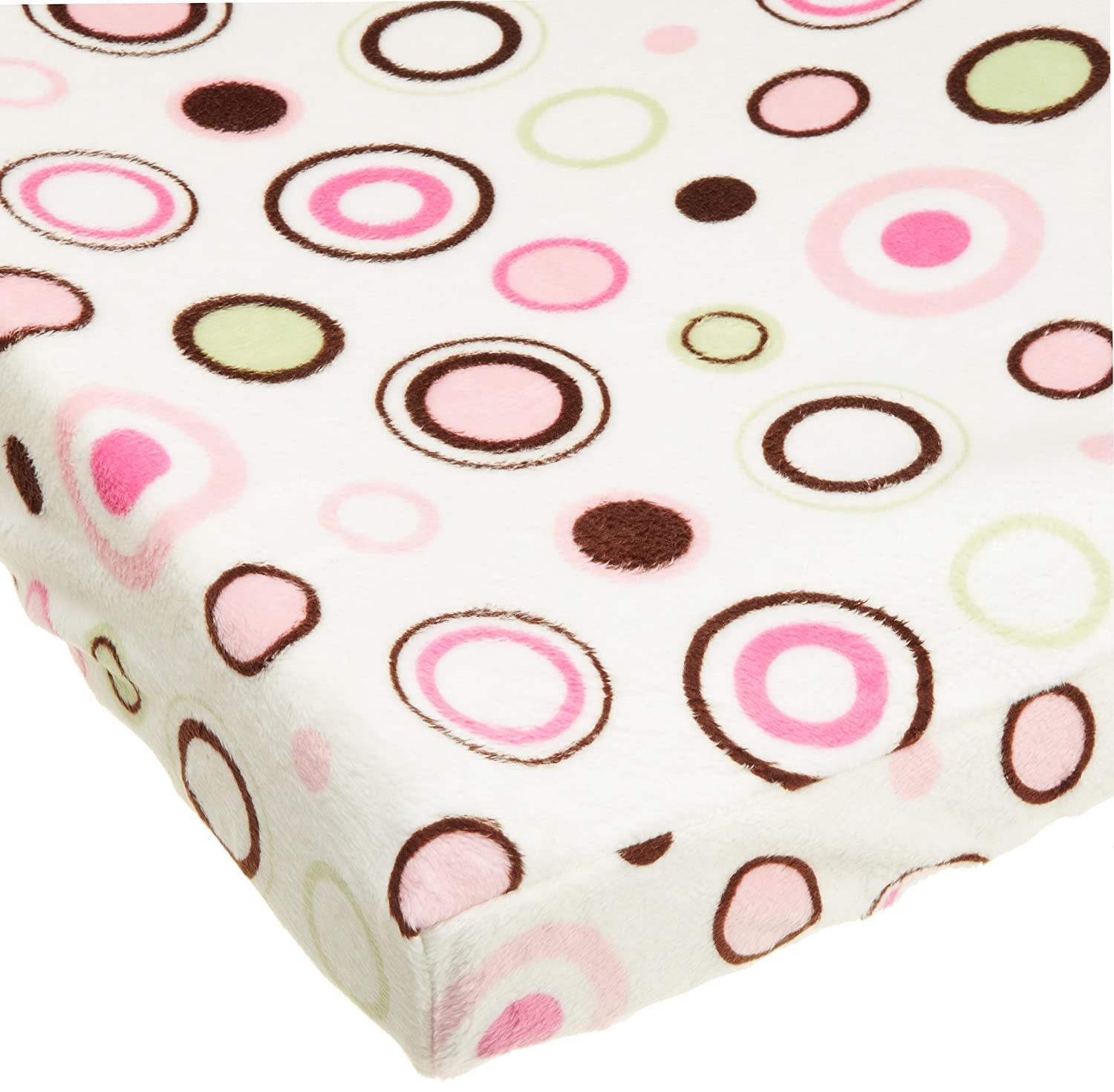 Carters Super Soft Printed Changing Pad Cover, Pink Circles (Discontinued by Manufacturer)