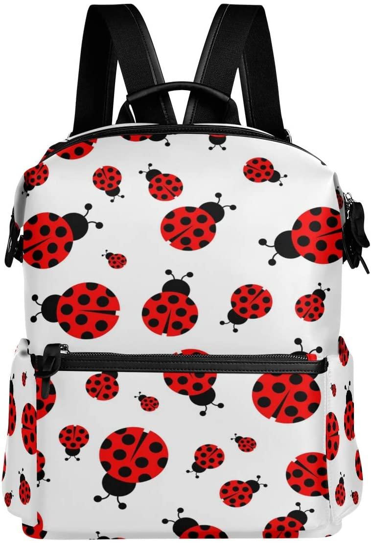 ALAZA Ladybug Casual Backpack Waterproof Travel Daypack Student School Bag