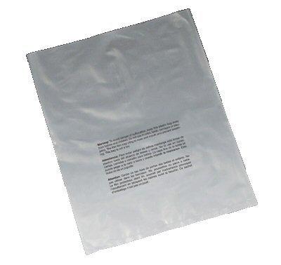 Associated Bag 28-4-014 Suffocation Warning Flat Poly Bags, 9