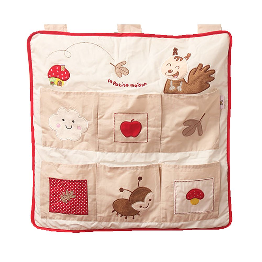 Hanging Bedside Bags Baby Crib Diaper Storage Bag,a