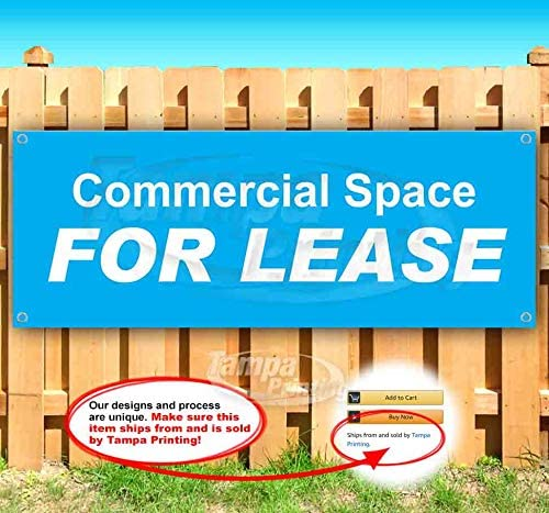 Commercial Space for Lease 13 oz Heavy Duty Vinyl Banner Sign with Metal Grommets, New, Store, Advertising, Flag, (Many Sizes Available)