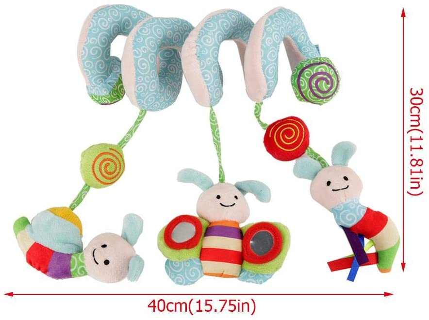Soft Hanging Rattle Toy, Bed Hanging Toy, for Newborn Girls Newborn Boys Attracting Baby Attention