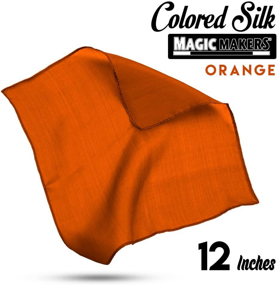Magic Makers 12 Inch Color Silk - Professional Grade (Orange)