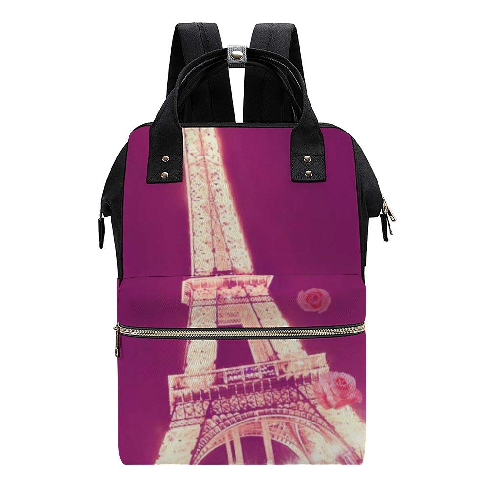 Paris Diaper Bag Backpack Baby Nappy Changing Bags Multifunction Waterproof Travel Back Pack
