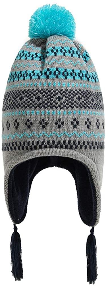 rarembellish Baby Knitted Cap, Baby Knitted Hats Kids Cute Pom Pom Tassel Autumn Winter Ear Warmer Beanie Cap