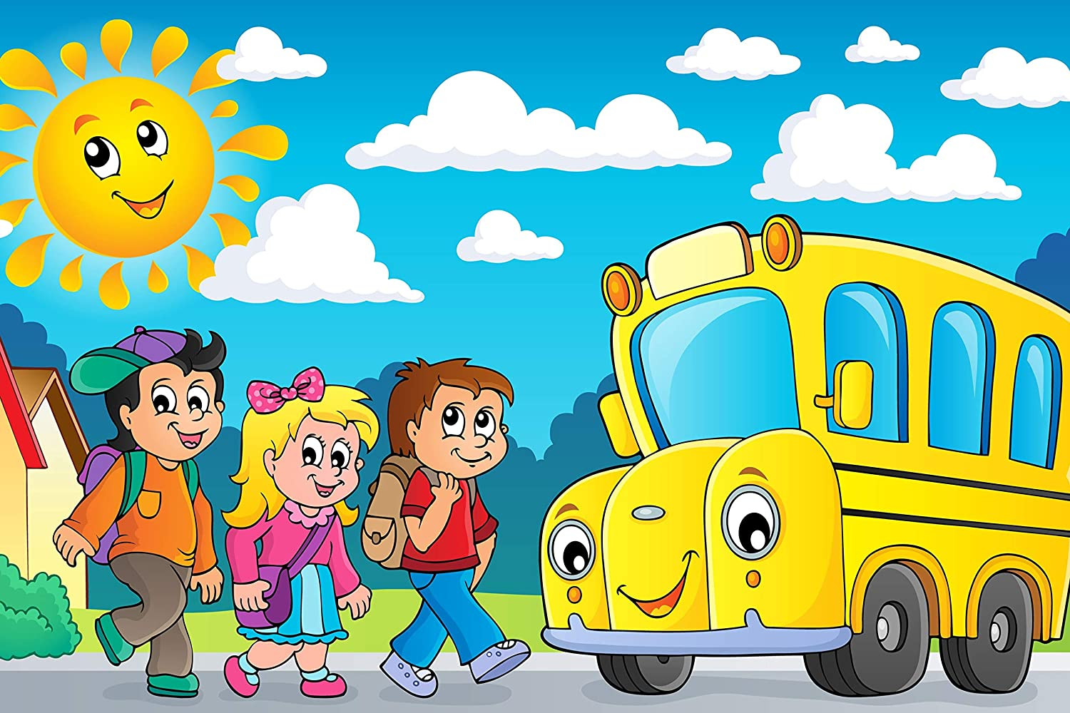On to The School Bus 35 Piece Children's Jigsaw Puzzle 12 inches X 18 inches