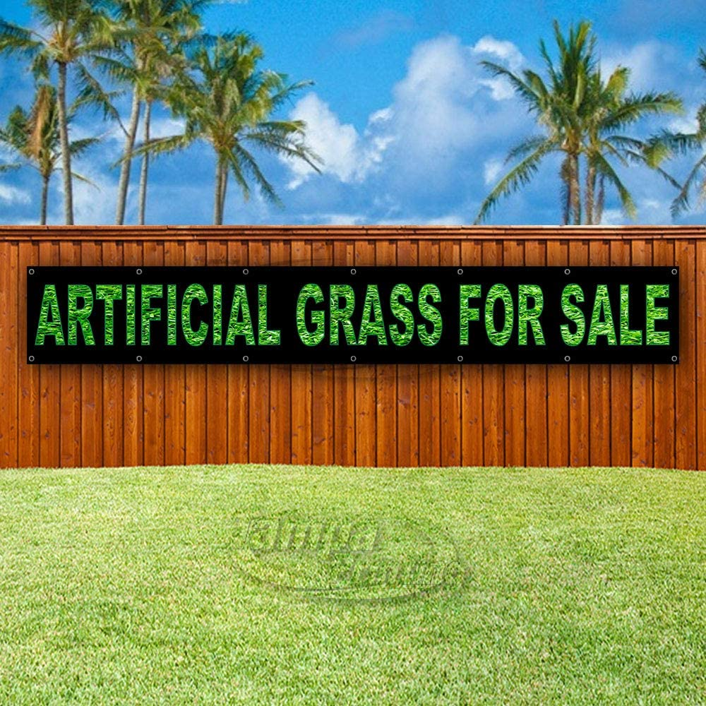 Artificial Grass for Sale Extra Large 13 oz Heavy Duty Vinyl Banner Sign with Metal Grommets, New, Store, Advertising, Flag, (Many Sizes Available)