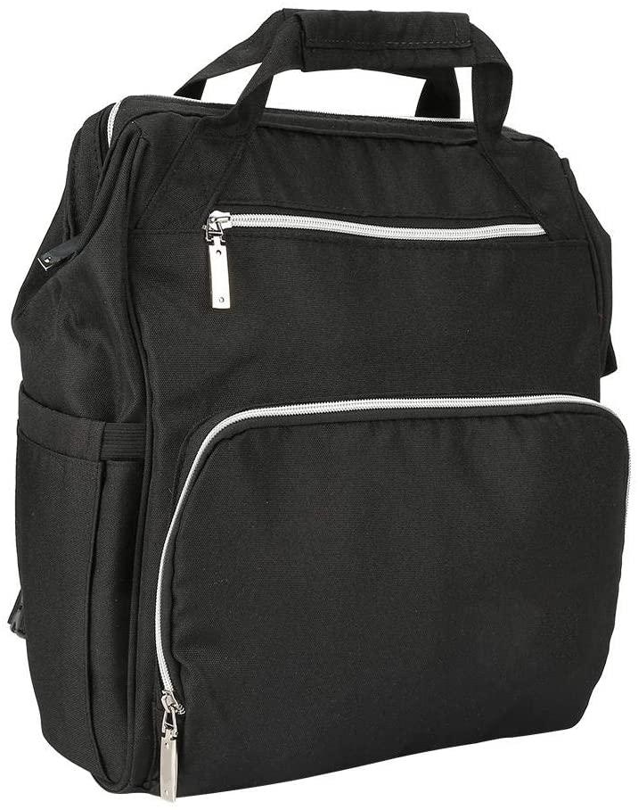 VIFER Backpack Waterproof Bag Mom Backpack Insular Diaper Nappy Multi-Functional Supplies Large Capacity, 1PC(Black)