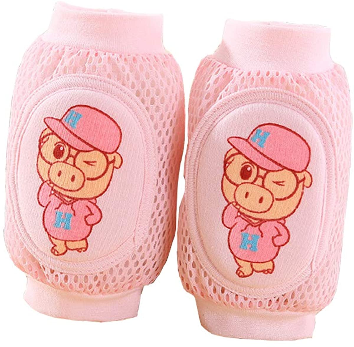 1 Pair Baby Crawling Anti-Slip Knee Pads Multiple Cartons Summer Adjustable Breathable Protector