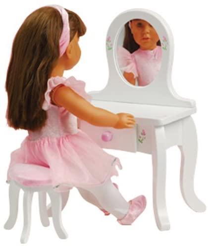 Doll Vanity & Stool for 18