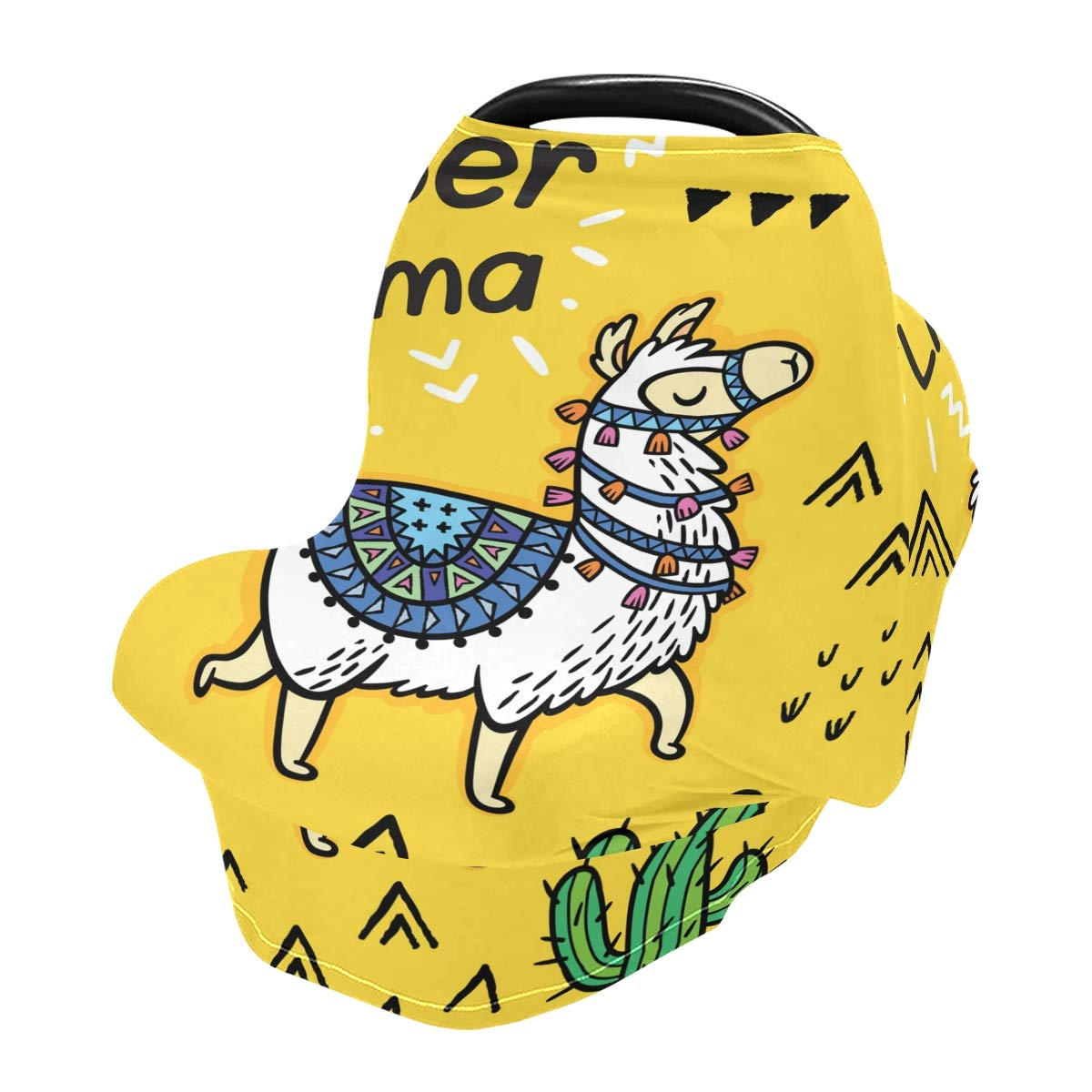 Nursing Cover Breastfeeding Soft Carseat Canopy Super Llama Multi Use for Baby Car Seat Covers Canopy Shopping Cart Cover Scarf Light Blanket Stroller Cover