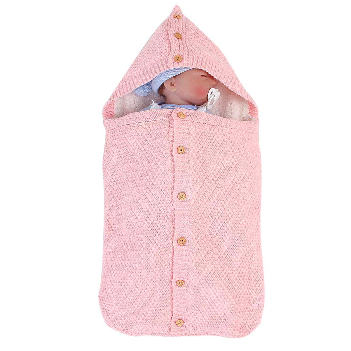 Owlike Newborn Baby Knit Sleeping Bag Stroller Wrap Toddler Swaddle Thick Warm Sleep Bag
