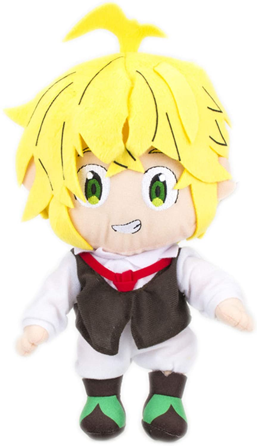 Heionia The Seven Deadly- Meliodas Plush Toy 7.87in, Cosplay Anime Figure Stuffed Plushie Collectible Doll Nap Pillow