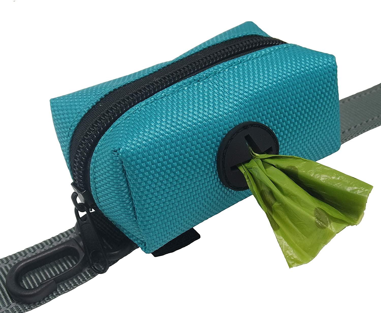 Dihapet Dog Poop Bag Dispenser Leash Attachment Waste Bag Holder Adopt for Dogs Cats Running Walking Training Hiking