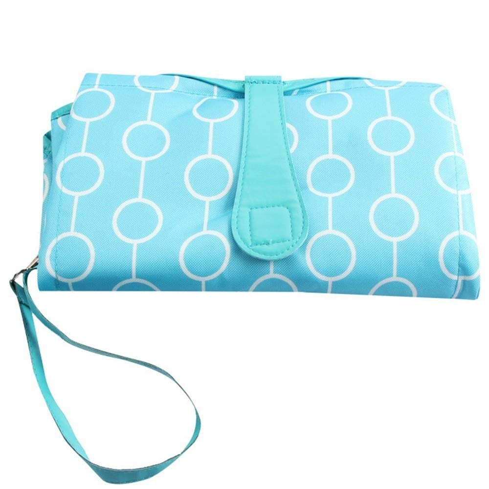 Portable Changing Mat, Waterproof Baby Diaper Changing Pad Infant Foldable Nappy Pad Kit for Home Travel Outdoor