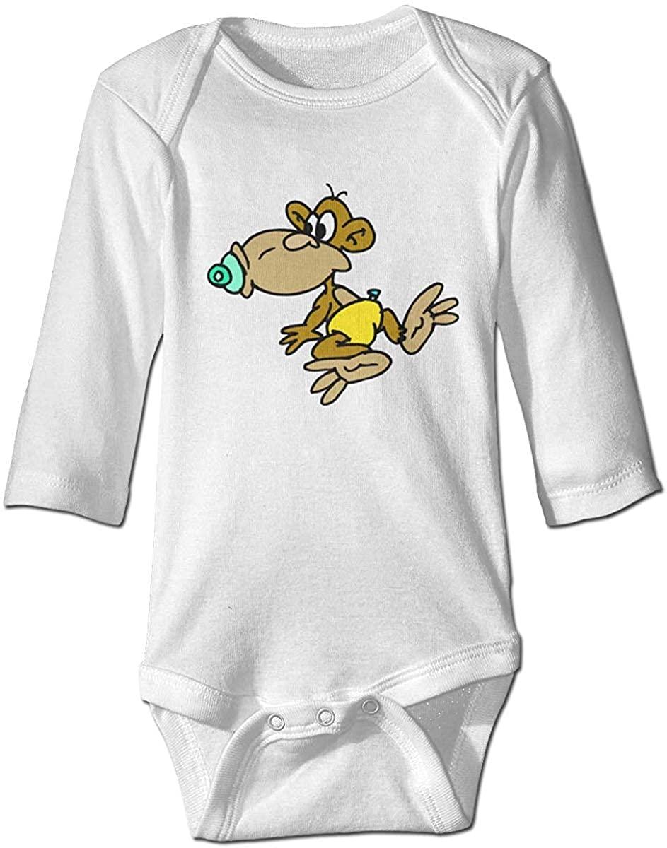XieTao Nipple Monkey Cute Bodysuit Toddler Rompers for Infant Unisex Baby Long Sleeve