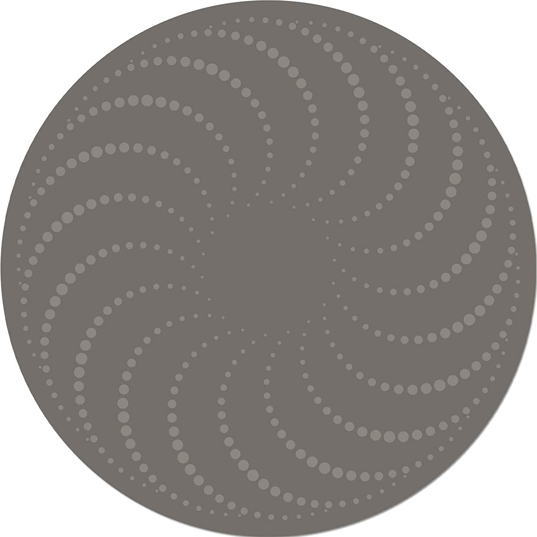 Social Distancing Floor Decal - Designer - Swirl Design - Durable - Built to Last - Stylish - Anti-Slip - Made in USA - 10 Round (Wild Mushroom)