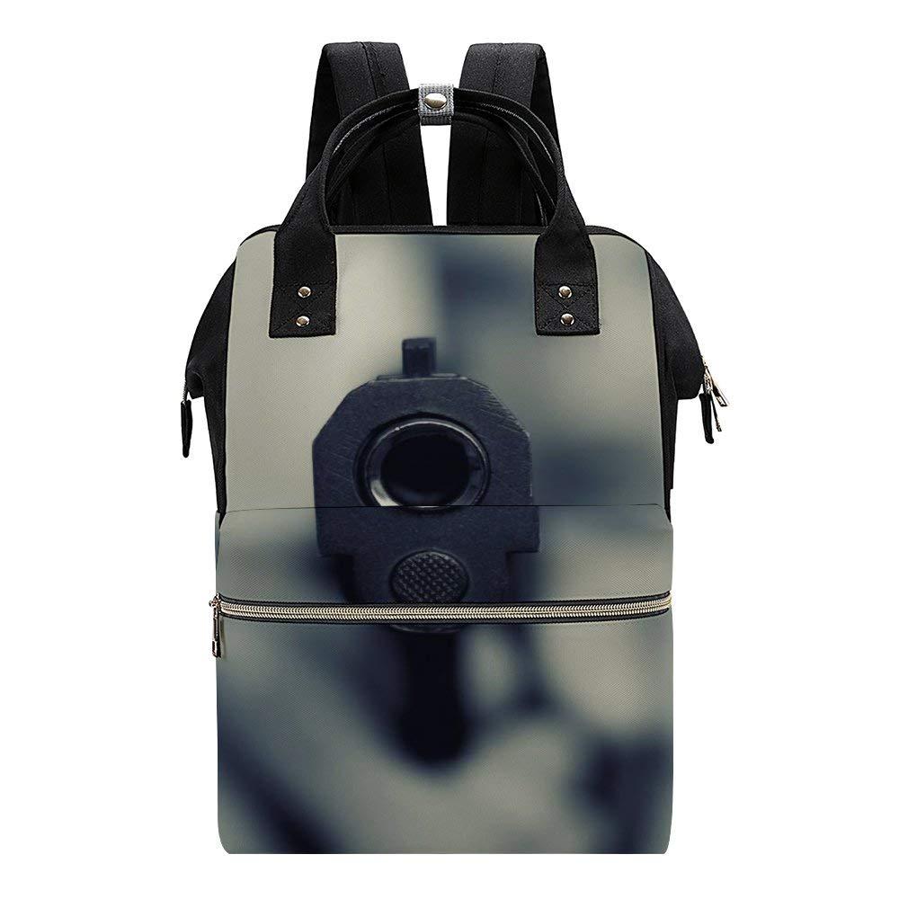 Gun KillerRetro Man Boy Diaper Bag Backpack Multi-Functional Travel Back Pack Anti-Water Maternity Nappy Bag Changing Bags
