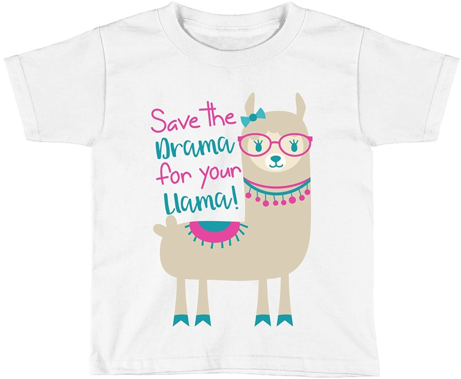 Blu Magnolia Co Baby Girls' Llama Outfit Shirt   Save The Drama for Your Llama