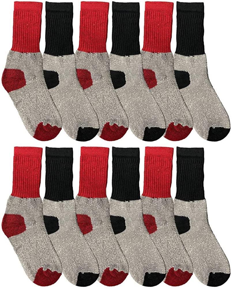 Yacht & Smith Kids Thermal Winter Socks, Cotton, Boys Girls Winter Crew Socks