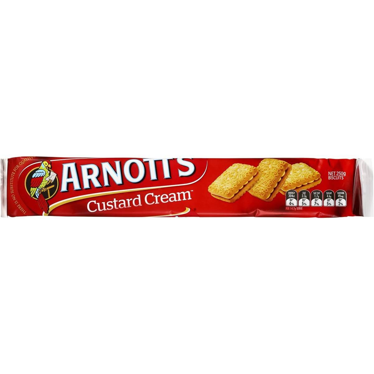Arnotts Custard Cream Biscuits 250g (Australian Made)