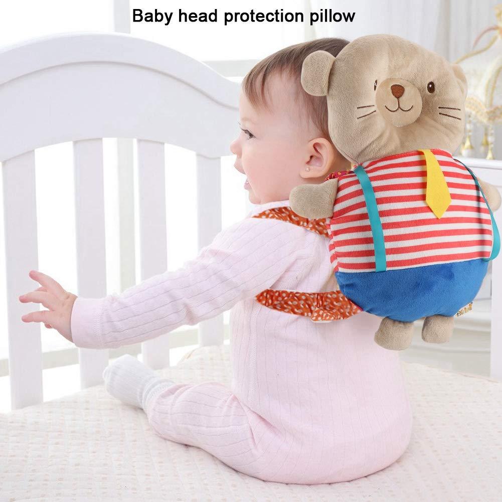 hongxinq Baby Animal Shaped Pack Protector Cushion Baby Walking Head Protection Backpack Pillow