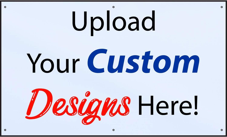 HALF PRICE BANNERS | Customize Now with Online Designer-Indoor/Outdoor Vinyl Banner 3X5 Foot-White|Includes Zip Ties|Easy Hang-Made in USA
