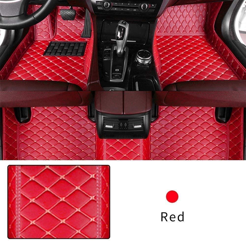 Muchkey Custom Car Floor mat for Mazda CX-3 CX-5 CX-7 CX-9 MX-5 Mazda 5 Mazda 6 Full Coverage Waterproof Non-Slip PU Leather Carpet Protection Floor Liner Red