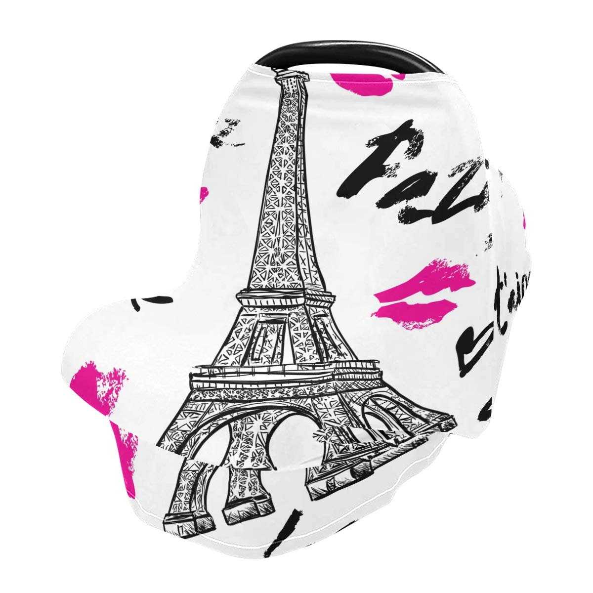 Baby Car Seat Cover Lips Paris Nursing Covers Breastfeeding Scarf Infant Carseat Canopy for Mom Baby Gift