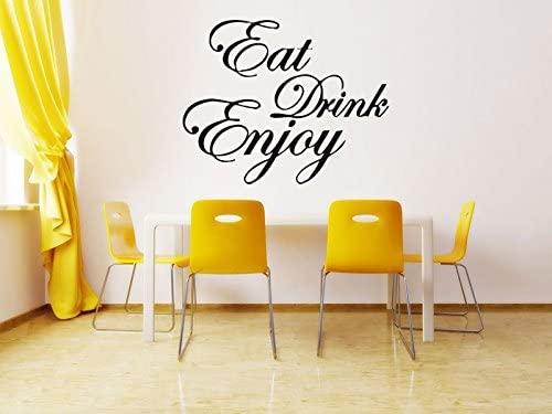Wall Room Decor Art Vinyl Sticker Mural Decal Eat Drink Enjoy Poster Kids Indoor Outdoor Sign Logo Emblem AS2852