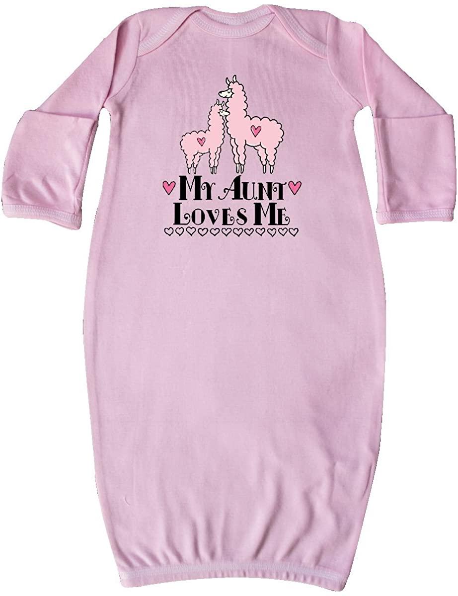 inktastic Llama Aunt Loves Me Girls Gift Newborn Layette