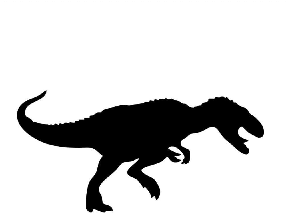 Dinosaur Silhouette Wall Stickers Stone Age Animal Home Decor Vinyl Removable Wall Decals Sticker Wallpaper for Kids Room 59 29Cm